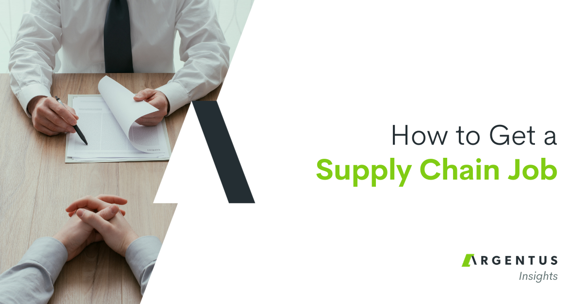 How to Get a Supply Chain Job