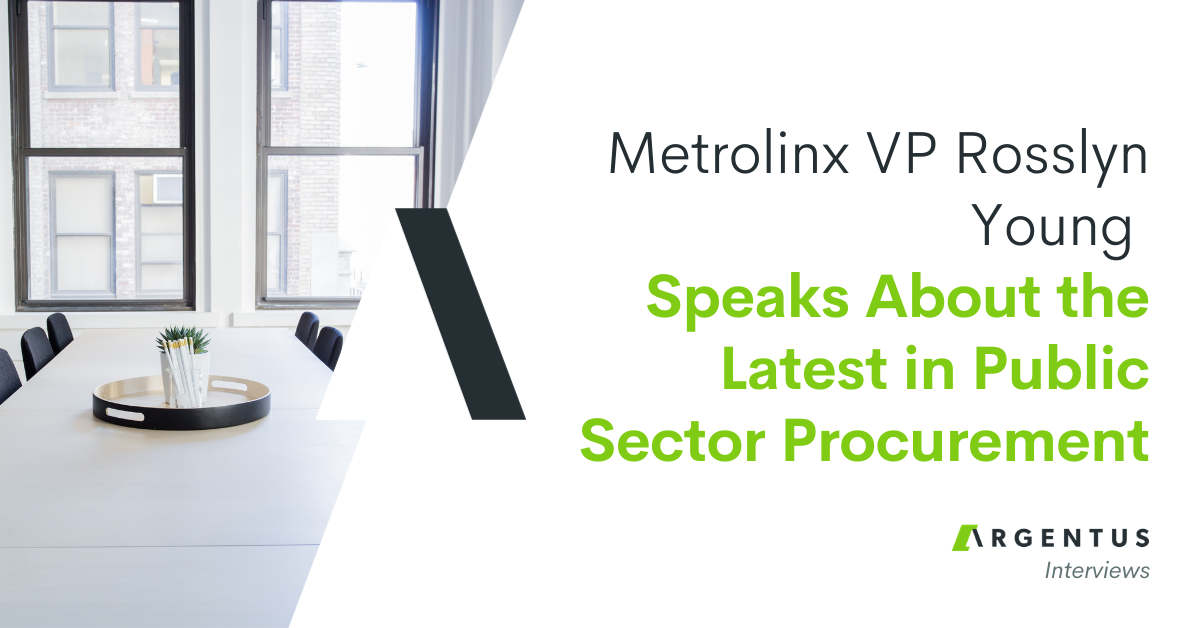 Metrolinx VP Rosslyn Young Speaks About The Latest in Public Sector Procurement