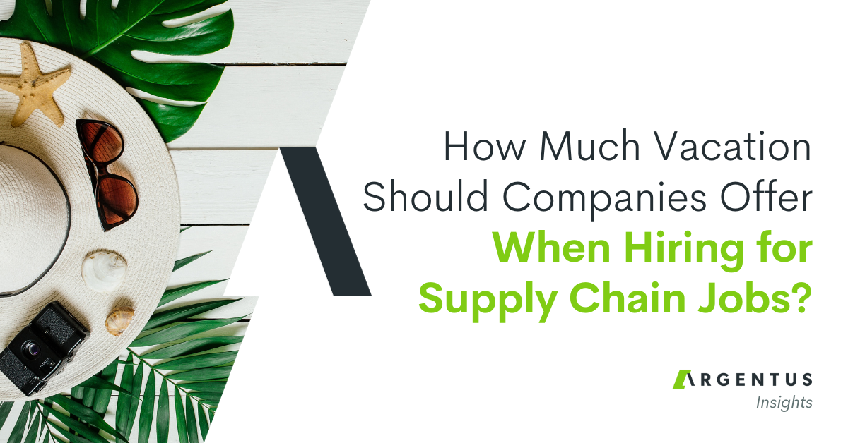 How Much Vacation Should Companies Offer When Hiring for Supply Chain Jobs?