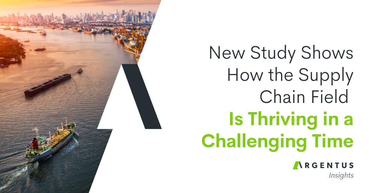New Survey Shows How the Supply Chain Field is Thriving in a Challenging Time